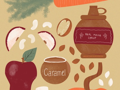 Baketober Fall autumn fall colors fall illustration illustration art drawing illo texture illustrator food illustration drawing challenge baking lettering handlettering typography