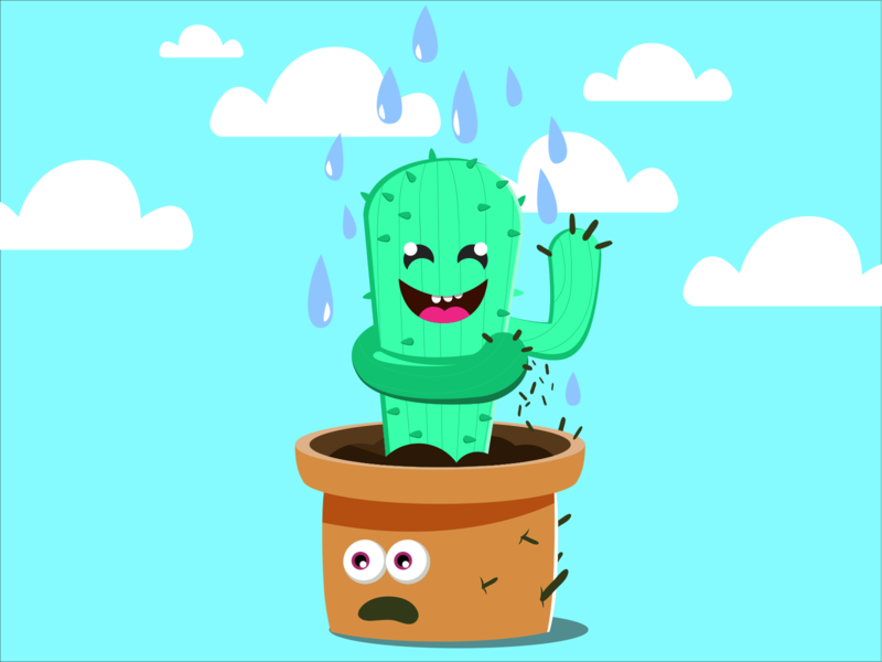 Cactus - Bad neighbours funny cactus lovely cute creative vector vector illustration character color illustrator design illustration concept