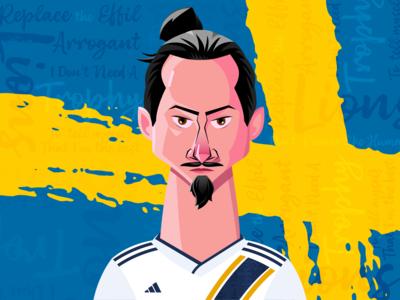 Zlatan Ibrahimovic Illustration
