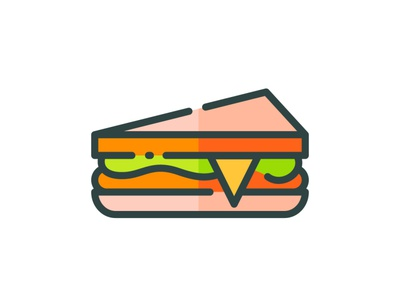 Sandwich web app vector branding ui design illustration icon flat goodware