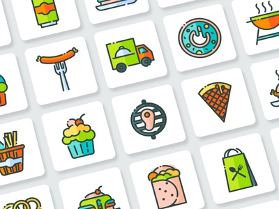 Fast Food Icons Collection web app vector branding ui design illustration icon flat goodware