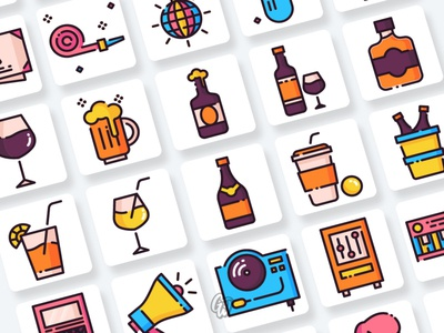 Party and Celebration Icons Collection web app vector branding ui design illustration icon goodware