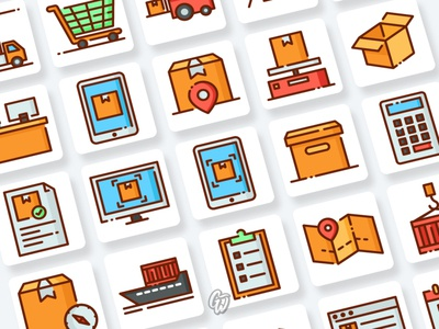 Logistic and Delivery Icons Collection web vector branding ui illustration icon flat goodware