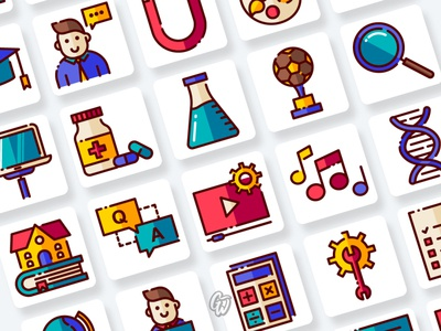 Education Icons Collection ux web app vector branding ui illustration icon flat goodware