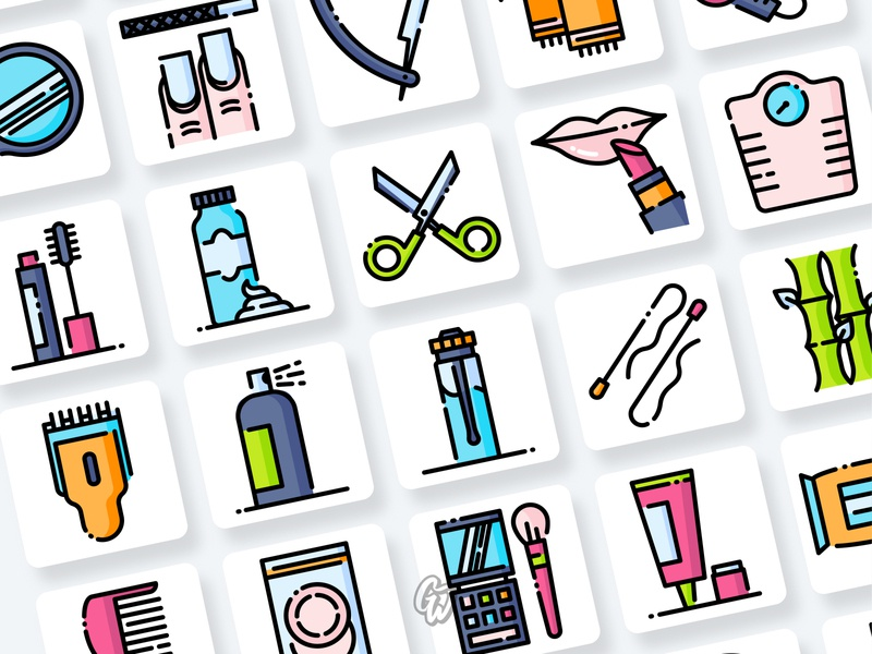 Beauty Icons Collection app web ui illustration branding vector design flat icon goodware