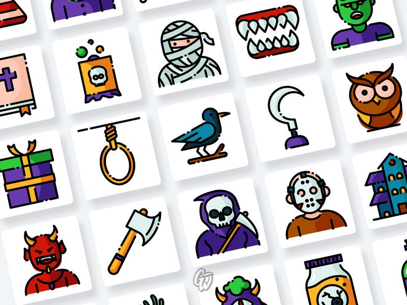 Halloween Icons Collection app web ui illustration branding vector design flat icon goodware