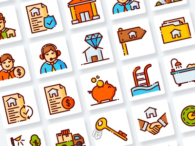 Real Estate Icons Collection web ui illustration branding vector design flat icon goodware