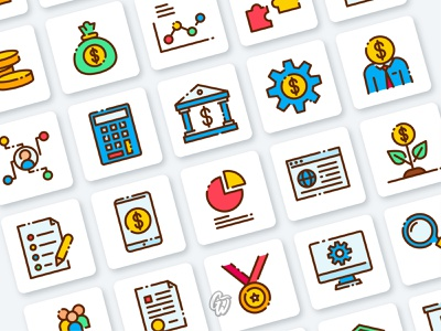 Crowdfunding Icon typography lettering app web ui illustration branding vector design flat icon goodware