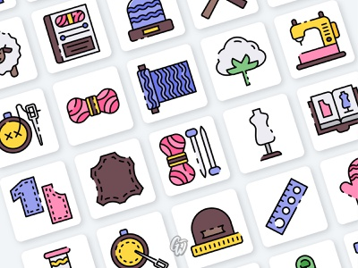 Knitting Icon app web ui illustration branding vector design flat icon goodware