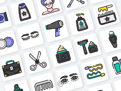Cosmetic Product app web ui illustration branding vector design flat icon goodware