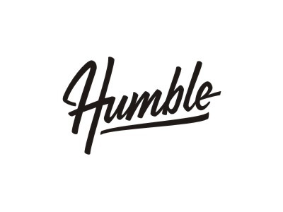 Stay humble goodware logotype lettering typography
