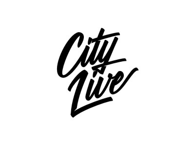 City Live goodware logotype lettering typography