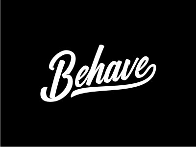 Please behave goodware logotype lettering typography