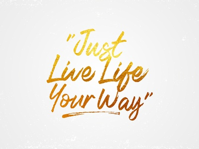 Just Live goodware typography tastype font lettering type