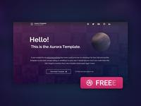 Free Aurora Template