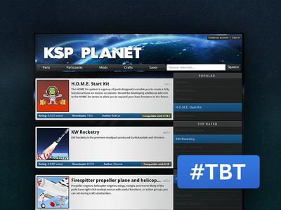 #TBT KSP Planet (2013) thursday throwback throwback thursday space kerbal kerbal space program planet ksp tbt