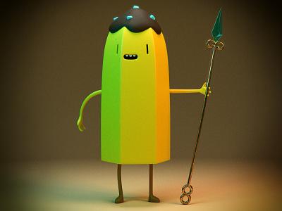 Banana Guard illustration cartoonnetwork fanart kawaii vray 3dsmax adventure time