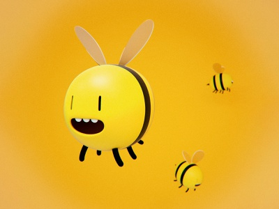 Bees from Adventure Time bees design vray fanart cartoonnetwork kawaii illustration adventure time