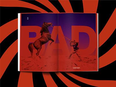 Bad Companions book design typography print layout illustration