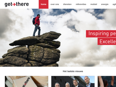 Get There homepage redesign webdesign get there grid system index weblayout html css 960 photoshop