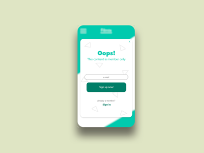 Sign up screen - #DailyUI #001