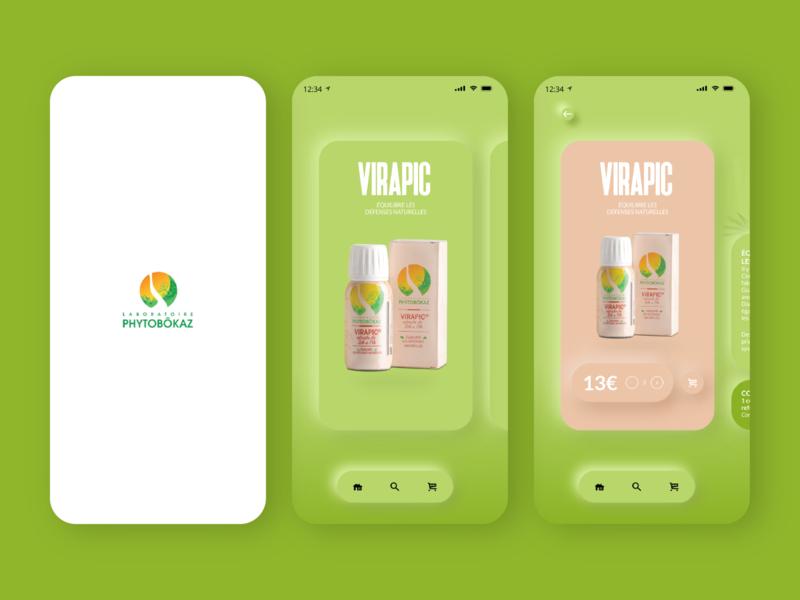 Phytobokaz Mobile Adaptation-static personal project experiment medecine natural guadeloupe photoshop ui mobile design invision fanart design app