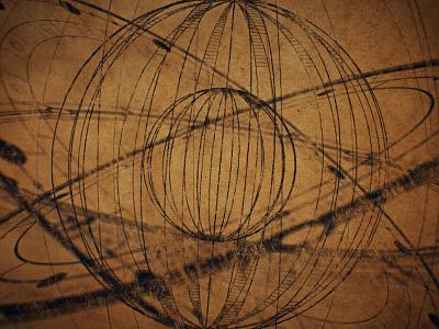 Armillary Sphere - Texture doodle circular motion museum gyro art gyroscope illustration after effects da vinci blueprint circle sphere retro renaissance vintage