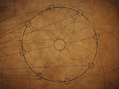 Shadow and Light - Texture book astronomy lines light hand drawn illustration geometry da vinci blueprint circular after effects shapes pattern circles flower circle vintage renaissance