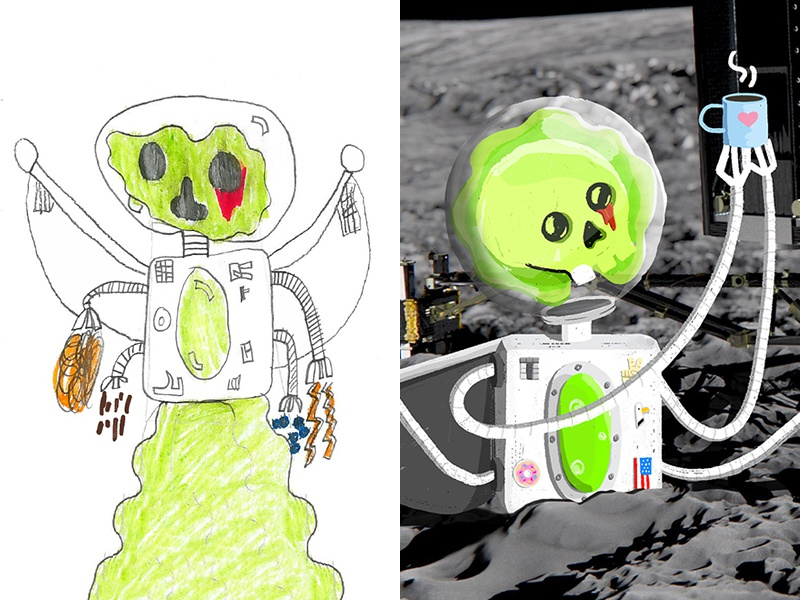 Wake up Philae! monster illustration photoshop the monster project
