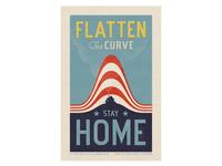 Flatten the Curve | Stay Home covid-19 coronavirus
