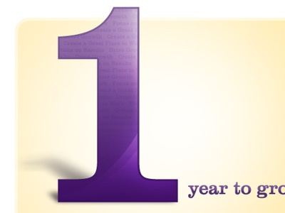 Big 1 1 one type typography purple number glossy