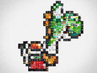 Yoshi Made From Dribbble Shots