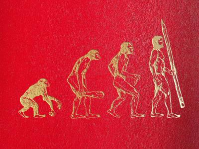 Designer Evolution evolution pencil ape caveman book cover