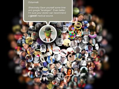 tweetflower.com design web flash actionscript website twitter api social