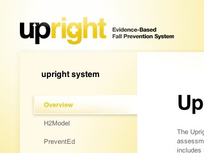 upright web design ui logo yellow website
