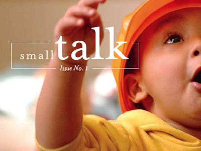 Small Talk design print typography identity logo cover layout newsletter charity