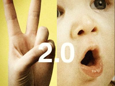 2.0 yellow peace print 2.0 baby hand
