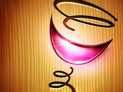 Wine Icon wine icon glossy glass spring whimsical pink flare shiny missouri wood ios app
