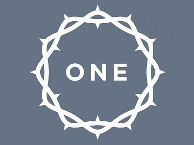 One in Christ t-shirt christians logo monochromatic