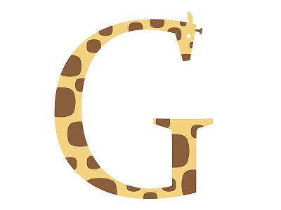 G is for Giraffe illustration giraffe letter animal