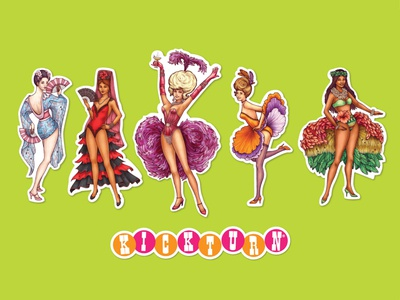Kickturn Showgirl Stickers