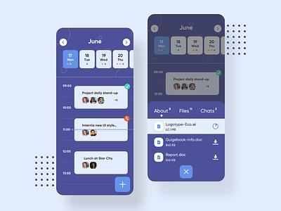 Schedule app ux design ui branding