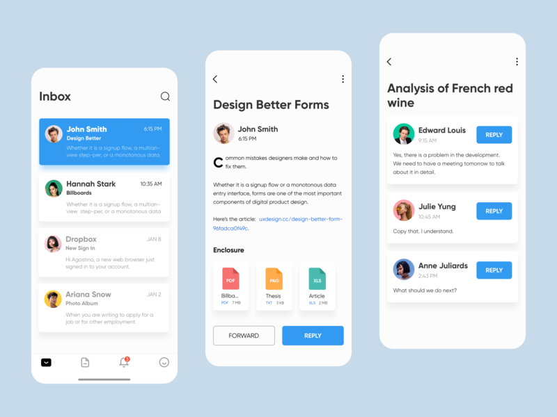 New email features ui outlook mobile app mobile mail app mail interface interaction design inbox gmail email client email app email attachment ux
