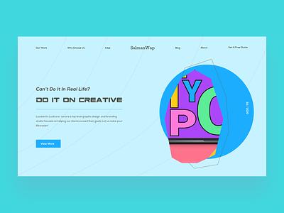 Design Studio Page ui design web web design typography modern minimalism layout landing page inspiration grid dynamic daily ui clean