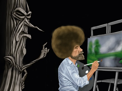 Unhappy Tree bob ross unhappy tree painting