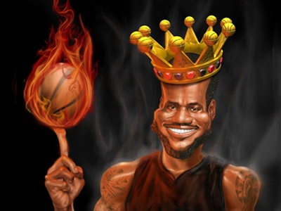 Lebron lebron king james basketball fire photoshop art studio ipad maya