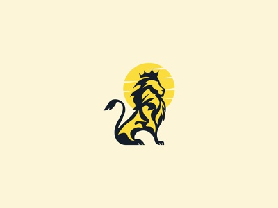 Crown/Lion/King vector branding identity minimalist icon graphic design jungle animal king crown logo
