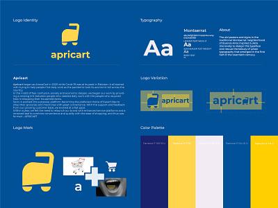Apricart - Final approved logo pakistani pakistan location graphic design branding minimalist logo identity app delivery restaurant food grocery shop apricot