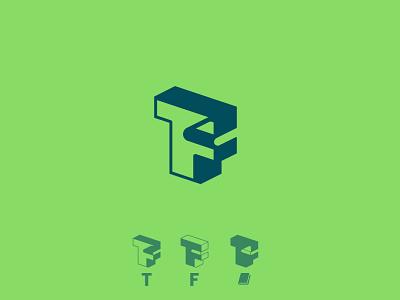 T/ F/ Book minimalist graphic design lettering logo typoraphy type isometry monogram education book f