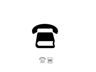 Telephone /Book identity technology diary call logo icon communication contacts education school book telephone
